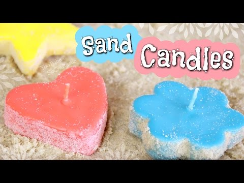 DIY SAND CANDLES  - Make Candle Molds with Sand - How To | SoCraftastic