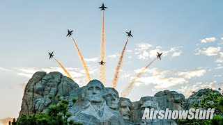 Blue Angels Over Mount Rushmore! Salute to America 2020