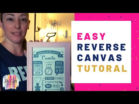 How to Make A Gorgeous Reverse Canvas In Less Than 30 Minutes   What is a Reverse Canvas? [Tutorial]