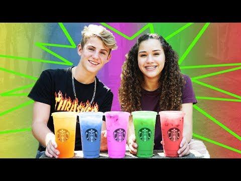 Starbucks Secret Menu Color Drinks! ft Gracie Haschak