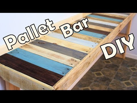 DIY Kitchen Pallet Bar Table
