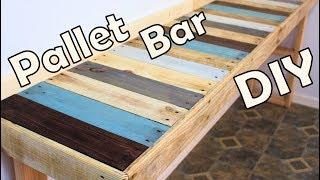 Diy Kitchen Pallet Bar Table