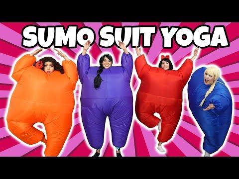 SUMO SUIT YOGA CHALLENGE (Princess Dress Up Characters)
