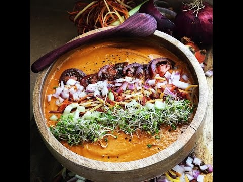 RAW VEGAN WARM CARROT SOUP - Y'ALL MUST TRY !!