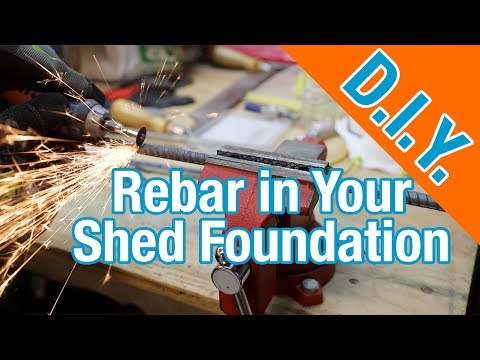 All about Rebar in Your Concrete Slab: How To Build A Shed ep 2