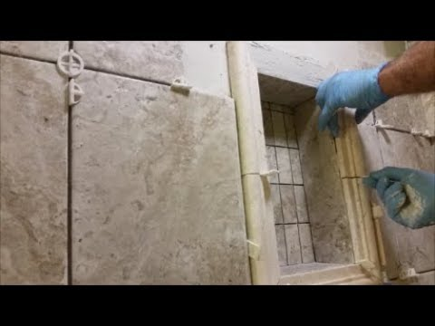 How To Tile A Shower Niche  - Step By Step -  Do It Yourself