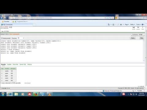 how to use command in oracle database 10g EXE