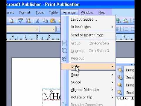Microsoft Office Publisher 2003 Convert an image to a watermark