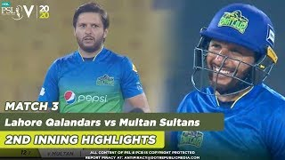 Shahid Afridi Is On Fire Again | Lahore Qalandars vs Multan Sultans | Match 3 | HBL PSL 5 | 2020