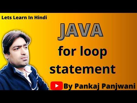 for loop in Java By Pankaj Panjwani(YCT Academy) |  Hindi