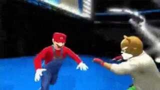mario attacks bowser