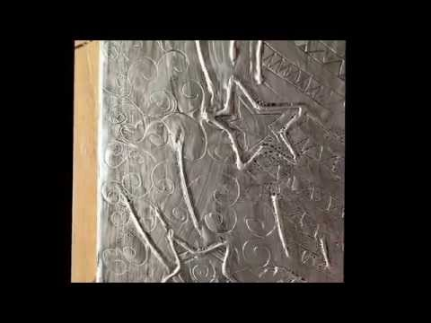 How to make - Aluminum foil raised art