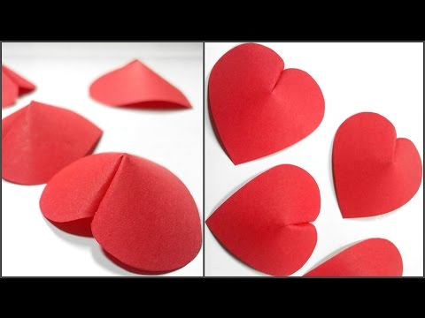How to make 3D Paper Heart For Decoration/DIY Crafts - Paper Hearts Design Valentine's Day tutorial