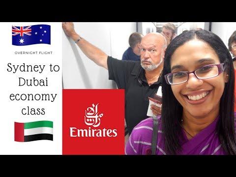 Emirates Sydney to Dubai in economy class   EK413 flight review