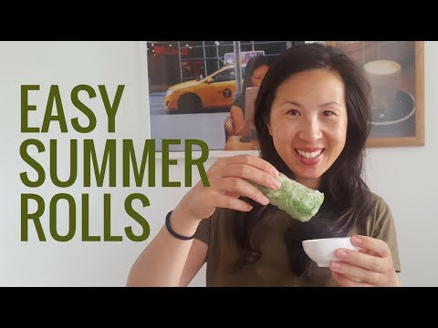 Beef Summer Roll Recipe I How to roll I Vietnamese Goi Cuon Rice Paper Rolls Sommerrollen I Sauce