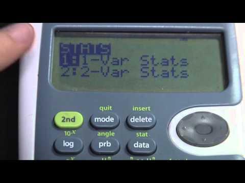 TI-30 XS Mean-Standard_Deviation-Variance