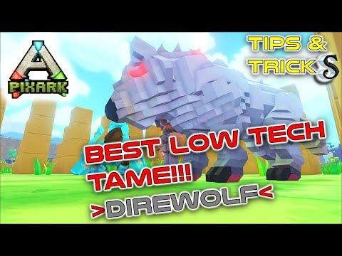 PIXARK #4 BEST LOW TECH TAME!!! HOW TO TAME A PIXARK DIREWOLF!!!