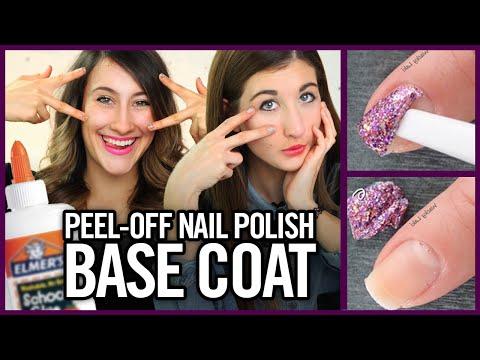 DIY Peel Off Nail Polish Base Coat with Glue? - Makeup Mythbusters w/ Maybaby and Lyndsay Rae