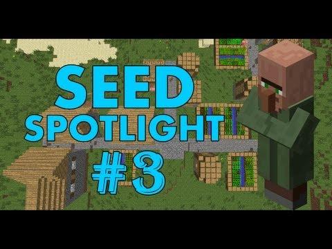 Minecraft 1.7.4 Seed Spotlight: DOUBLE VILLAGE, PYRAMID, DIAMONDS! #3