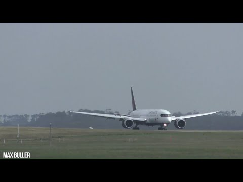 INAUGURAL Air Canada  Arrival and Departure at Melbourne Airport