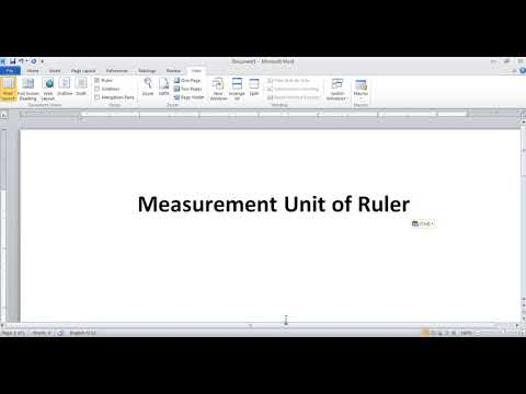 Measurement Unit of Microsoft Office Word in Hindi