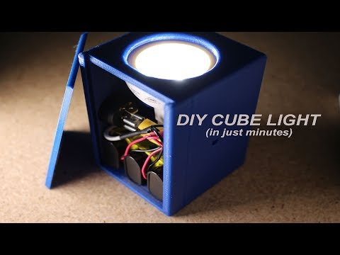 DIY Cube Light - quick and easy (MEHS) Episode 69