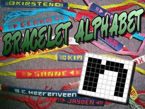 Friendship Bracelet Crochet Yarn, Alphabet: Letter N