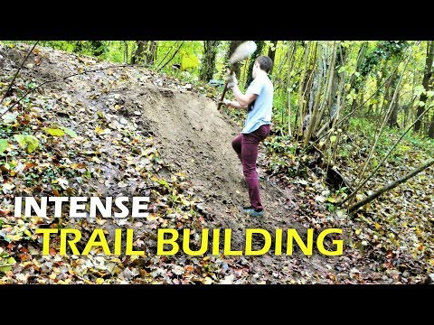 Construction D'un Gros Step Up | Trail Building Timelapse