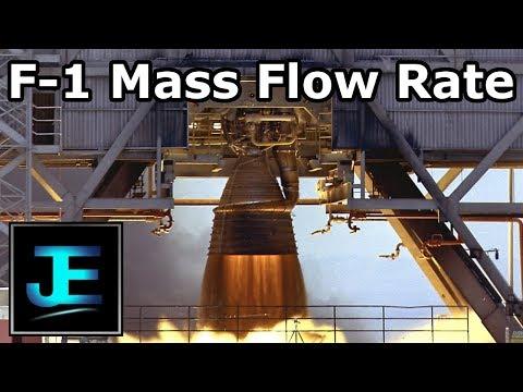 Rocketdyne F-1 Mass Flow Rate Calculation