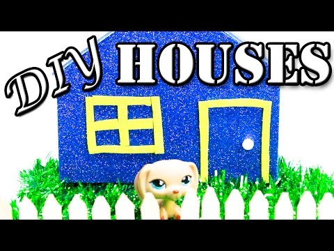 How to make DIY House l Miniature Crafts l LPS