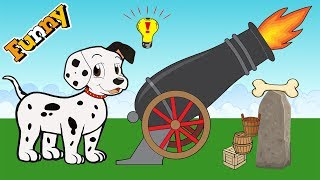 Funny Animals Cartoons for Children - Dog and Bone - Dogs Cartoons for Children