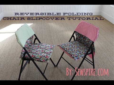 How to Sew A Reversible Folding Chair Slipcover in 15 Minutes