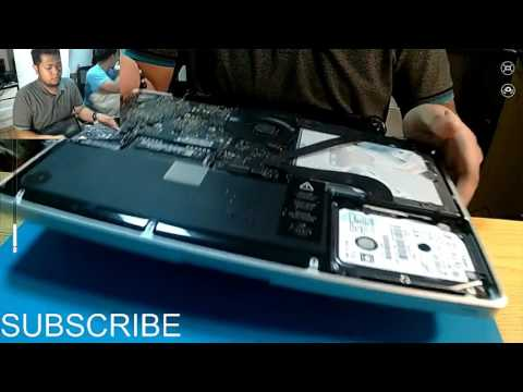 macbook pro a1278  - LCD replacement - Disassembly