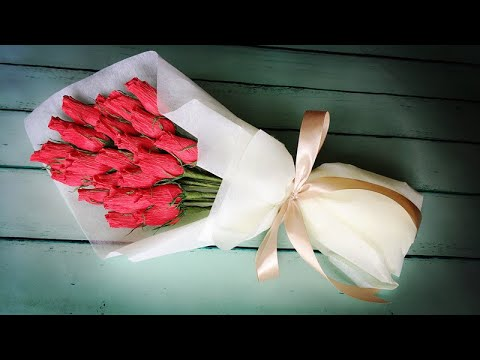 ABC TV | How To Make Rose Bud Bouquet From Crepe Paper - Craft Tutorial