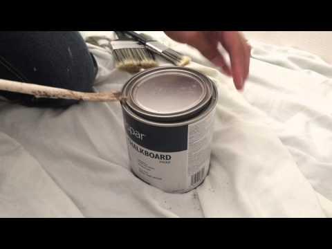 Simple DIY Chalkboard Paint Wall Closet Doors