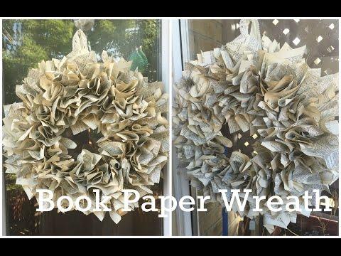DIY: Scrunched Book Paper Wreath ♡ {Wreaths} ♡ Jessica Joaquin