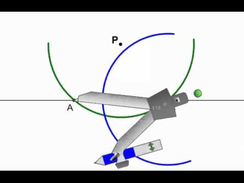 Geometry - Constructions 4 - Perpendicular to Line Through Point Not on Line