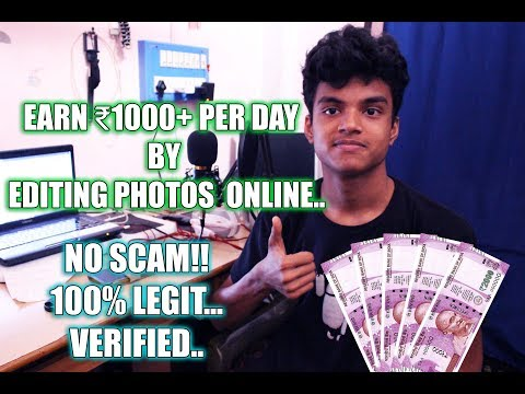 Earn ₹1000+ per Day by editing Photos Online | No registration Fees..
