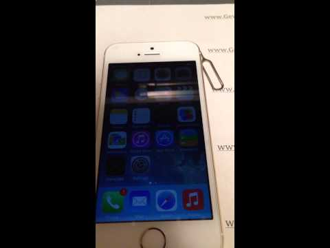 iPhone 5S IOS 7.1.1 unlocked with GeveySIM on www.Gevey-SIM.ro