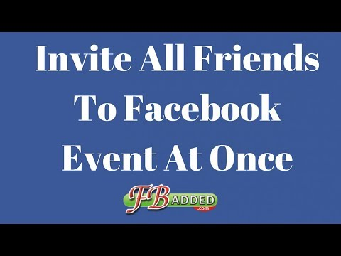 How To Create Facebook Event  - Invite All Friends To Event In 1 Click
