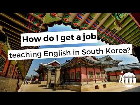How do I get a job teaching English in Korea?