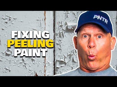 How To Fix Peeling Paint.