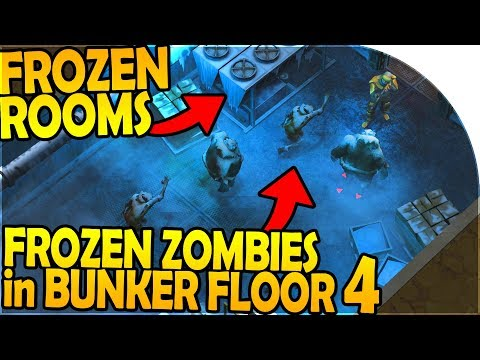FROZEN ZOMBIES in BUNKER ALPHA FLOOR 4 + FROZEN ROOMS - Last Day On Earth Survival 1.7.8 Update