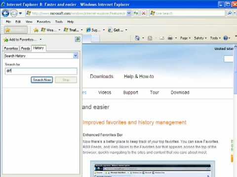 History in Internet Explorer 8