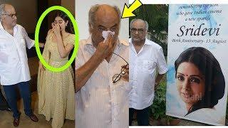OMG ! Janhvi Kapoor and Bonney Kapoor breakdown on Sridevi