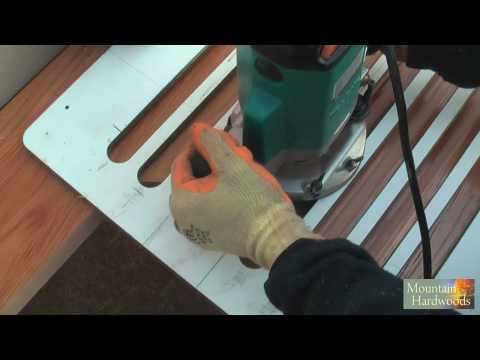 Routing Wooden Worktop Drainage Grooves (HD)