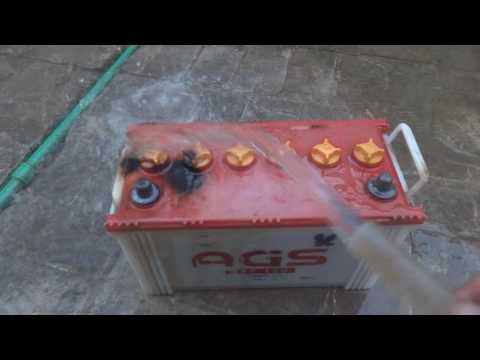 How to clean lead acid battery Urdu.