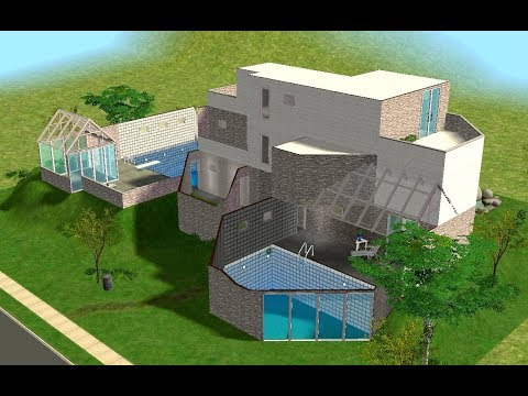 ♢ The Sims 2 ♢ Modern Glass Pool House ♢