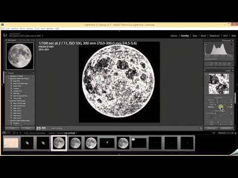 How to edit the full moon in Lightroom to pull out detail