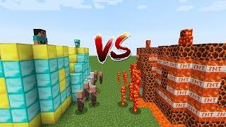 Minecraft Battle: CASTLE VILLAGER NOOB AND PRO VS CASTLE LAVA MONSTERS